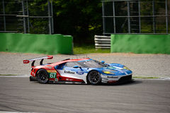 Τσιπ Ganassi που συναγωνίζεται τη δοκιμή της Ford GT σε Monza Στοκ φωτογραφία με δικαίωμα ελεύθερης χρήσης