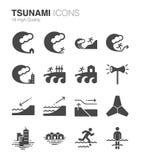 Τσουνάμι και πλημμύρα απεικόνιση αποθεμάτων