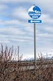 τσουνάμι οδικών σημαδιών Στοκ Φωτογραφία