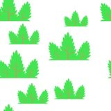 Τυλίγοντας σχέδιο φύλλων άνευ ραφής διανυσματικός τροπικός θάμνος φυτών φύλλων απεικόνιση αποθεμάτων