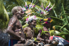Τυμπανιστής Παπούα νέος κάτοικος της Γουινέας Στοκ Φωτογραφία