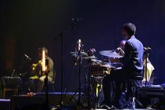 Τυμπανιστής στη συναυλία Στοκ εικόνες με δικαίωμα ελεύθερης χρήσης