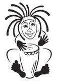 τυμπανιστής rastafarian Στοκ φωτογραφία με δικαίωμα ελεύθερης χρήσης