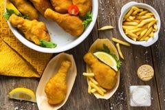τυμπανόξυλο κοτόπουλου που τηγανίζεται Στοκ φωτογραφία με δικαίωμα ελεύθερης χρήσης