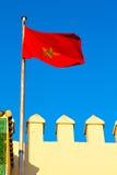 Τυνησία στο battlements χρώματος μπλε ουρανού κύμα Στοκ Εικόνα