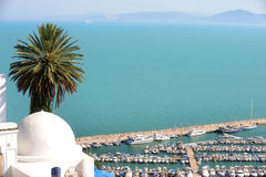 Τυνησία. Sidi Bou εν λόγω Στοκ Φωτογραφία