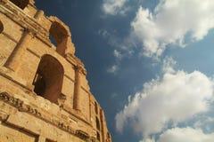 Τυνησιακό αμφιθέατρο στοκ φωτογραφία