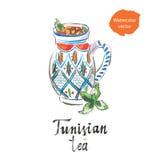 Τυνησιακό τσάι διανυσματική απεικόνιση