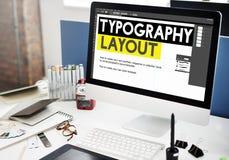 Τυπογραφίας δημιουργική έννοια σχεδίου σχεδιαγράμματος απαντητική Στοκ εικόνες με δικαίωμα ελεύθερης χρήσης