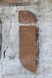 Τυπογραφία που χρωματίζεται στον παλαιό τοίχο στοκ εικόνα με δικαίωμα ελεύθερης χρήσης