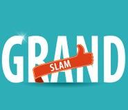 Τυπογραφία του Grand Slam με τους αντίχειρες επάνω και το φωτεινό υπόβαθρο Στοκ εικόνα με δικαίωμα ελεύθερης χρήσης