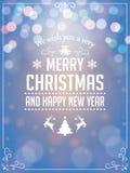 Τυπογραφία χαιρετισμών Χριστουγέννων Στοκ φωτογραφία με δικαίωμα ελεύθερης χρήσης