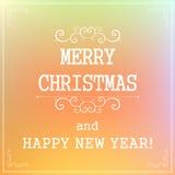 Τυπογραφικά νέα στοιχεία ετικετών πώλησης διακοπών έτους και Χριστουγέννων, Στοκ Εικόνες