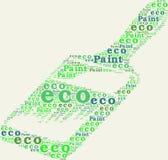 Τυπογραφική βούρτσα χρωμάτων eco απεικόνιση αποθεμάτων