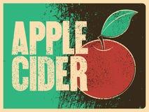 Τυπογραφική εκλεκτής ποιότητας αφίσα ύφους grunge μηλίτη της Apple αναδρομικό διάνυσμα απεικόνισης Στοκ εικόνες με δικαίωμα ελεύθερης χρήσης