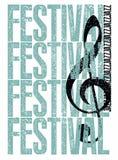 Τυπογραφική εκλεκτής ποιότητας αφίσα ύφους grunge φεστιβάλ της Jazz αναδρομικό διάνυσμα απεικόνισης Στοκ εικόνα με δικαίωμα ελεύθερης χρήσης