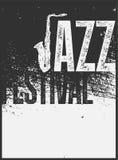 Τυπογραφική εκλεκτής ποιότητας αφίσα ύφους grunge φεστιβάλ της Jazz αναδρομικό διάνυσμα απεικόνισης Στοκ εικόνες με δικαίωμα ελεύθερης χρήσης