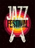 Τυπογραφική εκλεκτής ποιότητας αφίσα ύφους grunge φεστιβάλ της Jazz αναδρομικό διάνυσμα απεικόνισης Στοκ φωτογραφία με δικαίωμα ελεύθερης χρήσης