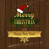 Τυπογραφική ετικέτα Χριστουγέννων για τα Χριστούγεννα και τις νέες διακοπές έτους desig Στοκ εικόνες με δικαίωμα ελεύθερης χρήσης