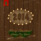 Τυπογραφική ετικέτα Χριστουγέννων για τα Χριστούγεννα και τις νέες διακοπές έτους desig Στοκ Φωτογραφία
