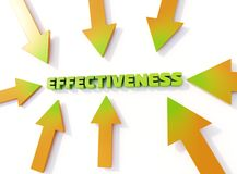 Τυπογραφική τρισδιάστατη απεικόνιση αποτελεσματικότητας, βέλη που δείχνει την αποτελεσματικότητα λέξης ελεύθερη απεικόνιση δικαιώματος