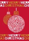 Τυπογραφικό μπιχλιμπίδι Χαρούμενα Χριστούγεννας. Στοκ Φωτογραφία