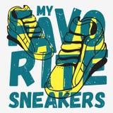 Τυπογραφικό σχέδιο τυπωμένων υλών γραμμάτων Τ Themed πάνινων παπουτσιών ελεύθερη απεικόνιση δικαιώματος