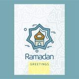 Τυπογραφικό σχέδιο Ramadan με το μοναδικό ύφος Στοκ Φωτογραφίες