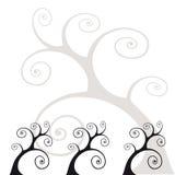 τυποποιημένα δέντρα Στοκ Εικόνες