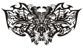 Τυποποιημένα φανταστικά φυλετικά φτερά πεταλούδων Στοκ φωτογραφίες με δικαίωμα ελεύθερης χρήσης