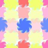 Τυποποιημένα χρωματισμένα λουλούδια Άνευ ραφής σχέδιο για τις απεικονίσεις Στοκ φωτογραφία με δικαίωμα ελεύθερης χρήσης