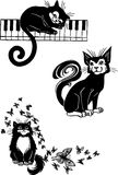 Τυποποιημένες γάτες - κομψότητα και χαριτωμένες γάτες. Στοκ φωτογραφίες με δικαίωμα ελεύθερης χρήσης