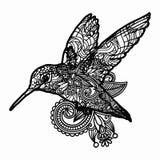 Τυποποιημένη απεικόνιση πουλιών Zentangle Συρμένη χέρι doodle απεικόνιση που απομονώνεται στο άσπρο υπόβαθρο Στοκ εικόνες με δικαίωμα ελεύθερης χρήσης