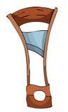 Τυποποιημένη ξύλινη λαιμητόμος κινούμενων σχεδίων Στοκ Φωτογραφία