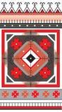 Τυποποιημένη παραδοσιακή udmurt διακόσμηση Γεωμετρικό μοτίβο ήλιων Στοκ Φωτογραφίες