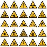 Τυποποιημένη συλλογή προειδοποιητικών σημαδιών Στοκ φωτογραφίες με δικαίωμα ελεύθερης χρήσης
