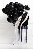 Τυποποιημένη φωτογραφία Mime μιας νέας όμορφης γυναίκας Στοκ φωτογραφίες με δικαίωμα ελεύθερης χρήσης