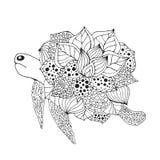 Τυποποιημένη χελώνα φαντασίας Zentangle Στοκ φωτογραφία με δικαίωμα ελεύθερης χρήσης