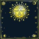 Τυποποιημένος ήλιος ελεύθερη απεικόνιση δικαιώματος