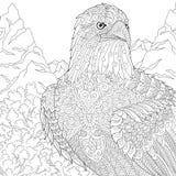 Τυποποιημένος αετός Zentangle ελεύθερη απεικόνιση δικαιώματος