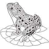 Τυποποιημένος βάτραχος Zentangle απεικόνιση αποθεμάτων