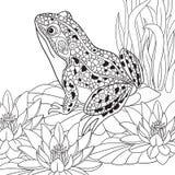 Τυποποιημένος βάτραχος Zentangle ελεύθερη απεικόνιση δικαιώματος