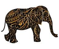 Τυποποιημένος διαμορφωμένος φαντασία ελέφαντας r διανυσματική απεικόνιση