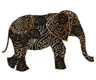 Τυποποιημένος διαμορφωμένος φαντασία ελέφαντας r απεικόνιση αποθεμάτων