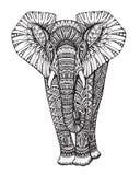 Τυποποιημένος διαμορφωμένος φαντασία ελέφαντας απεικόνιση αποθεμάτων