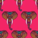 Τυποποιημένος ινδικός ελέφαντας Zentangle συρμένο χέρι διανυσματική απεικόνιση