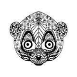 Τυποποιημένος κερκοπίθηκος Zentangle Σκίτσο για τη δερματοστιξία ή την μπλούζα ελεύθερη απεικόνιση δικαιώματος