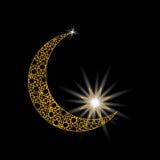 Τυποποιημένος μήνας με ένα αστέρι Διακόσμηση στο ανατολικό ύφος σύμβολο απεικόνιση Στοκ φωτογραφία με δικαίωμα ελεύθερης χρήσης