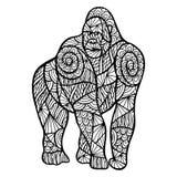 Τυποποιημένος πίθηκος zentangle ελεύθερη απεικόνιση δικαιώματος
