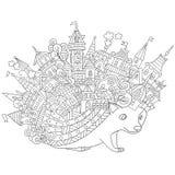 Τυποποιημένος σκαντζόχοιρος Zentangle διανυσματική απεικόνιση